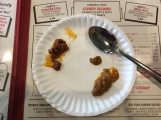 """Sparty's Coney Island Restaurant offers first time coney eaters a """"taster."""" They give you a taste of their Flint and Detroit sauces so you can choose which you would like. Photo by Alexa Seeger."""