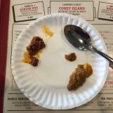 "Sparty's Coney Island Restaurant offers first time coney eaters a ""taster."" They give you a taste of their Flint and Detroit sauces so you can choose which you would like. Photo by Alexa Seeger."