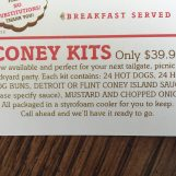 Sparty's Coney Island Restaurant offers Coney Kits for customers special events. Photo by Alexa Seeger.