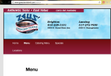 Zeus' Coney Island website is vibrantly colored and includes a PDF of the menu. Photo by Laura Bohannon.