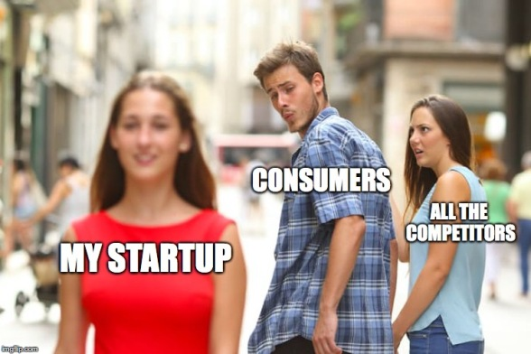 startup competitive analysis meme