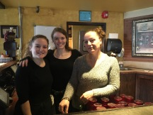 T & D Coney Grill manager Viola, right, and servers Marsela and Kendall stand in the restaurant's passbar. Viola, who declined to give her last name, said although their restaurant is tucked away, they get a ton of regulars. Photo by Jamal Tyler.