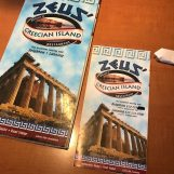Zeus' Coney Island logo is vibrant, featuring Grecian inspired graphic elements. Photo by Laura Bohannon.